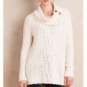 Anthro/ Moth Chunky Cable Knit Sweater